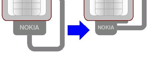705NKのコネクタ接続部分