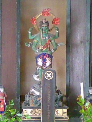 花岳寺の明王像(金剛夜叉明王か)